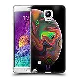 Head Case Designs Regenbogen Acryl Giessende Planeten Soft Gel Hülle für Samsung Galaxy Note 4