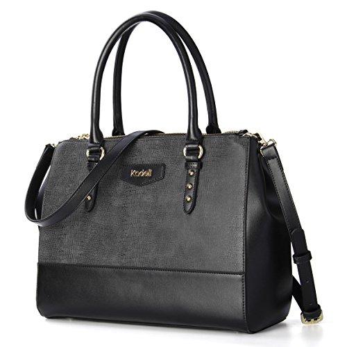 Kadell Frauen Elegant Luxus Leder Handtaschen Tote Schulter Beutel Krokodil Muster Crossbody Geldbeutel große Kapazität Schwarz -