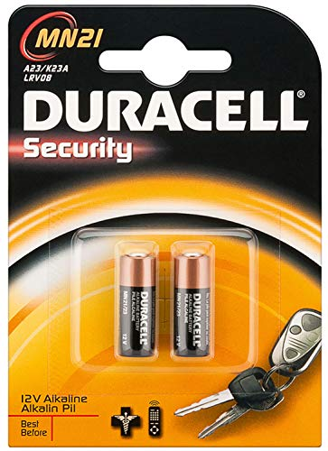Dynamische Leistung DURACELL - 75072670 - Batterie, ALKALINE Batterie MN21 - 2 Stück