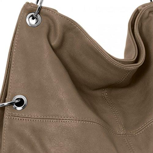 CASPAR TS561 Damen Multifunktions Schultertasche / Umhängetasche Khaki