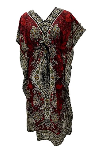 Women's Gown/Nighty - Export Quality - Printed - Free Size (Red)