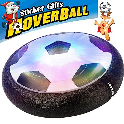 Air Power Fußball,Größe 4 Fußball Jungen Mädchen Sport Kinder Spielzeug Training Fußball Indoor Outdoor Disk Hover Ball Spiel mit Schaum Stoßfänger und leuchten LED-Leuchten