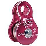 ALPIDEX Seilrolle Umlenkrolle 20 kN - geeignet für Seile bis 11 mm Durchmesser - EN12278, Farbe:red