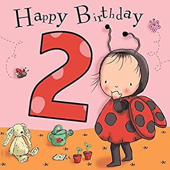 Twizler 2nd Birthday Card For Girl With Ladybird