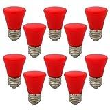 10 Stück E27 Rot Glühlampen Lampe Farbig Birne Beleuchtung Glühbirne Bunt Dekoration Leuchtmittel Für Partybeleuchtung Biergartenbeleuchtung