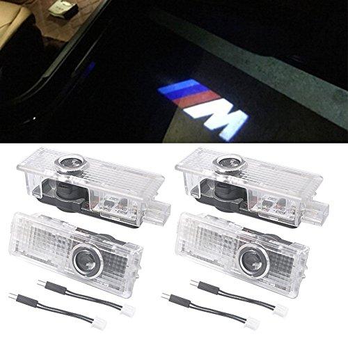 NOTENS Autotür Logo Licht, 4 Pack LED Shadow Einstiegsbeleuchtung Shadow Geisterlicht Courtesy Willkommenslogo E90 E91 E92 E93 M3 E60 E61 F10 F07 M5(4 PCS)