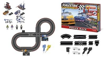 Scalextric Compact - Circuito Police Cup Compacto: escala reducida 1:43 - ocupa menos (C10128S500) por Fábrica de Juguetes