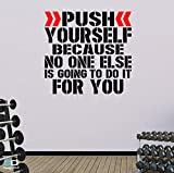 Best Motivational Wall Decals - Push Yourself. Word Square Premium Motivational Wall Art Review