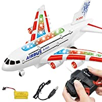 Ocamo Kids RC Airplane Toys A380 Airbus Toys with Music and Lights Large Electric Remote Control Airplane Toy for Indoors/Outdoors Flight Toys