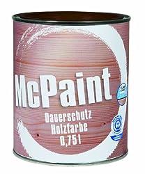 McPaint Wetterschutzfarbe - Holzfarbe für außen auf Acryl Basis mit langanhaltendem Wetterschutz, PU-verstärkt, Möbellack, seidenmatt, 0,750L, Schokobraun - Weitere Farbtöne verfügbar