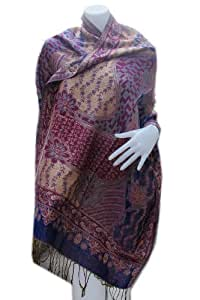 """""""HelloThailand"""" VERY NICE MULTI FLOWER REALY NICE & LOVELY Scarf Shawl Pashmina Wrap Throw - Over 1000 beautiful colours to choose from (Approx. 27"""" x 70"""" (30% WOOL 40% Cotton 30% Polyester) HandWash This fashionable pashmina scarf, wrap or shawl is the perfect finishing touch to almost any outfit. (Best For Winter)"""
