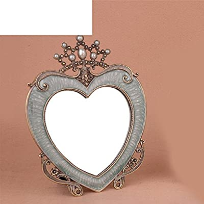 Dekorative Herzen Mini Tabletop Make-up-Spiegel/ European-Style Heart-shaped Krone dekorativer Spiegel/Kreative Geburtstagsgeschenke