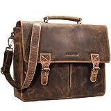 STILORD 'Georg' Aktentasche Leder Vintage Dokumententasche Lehrertasche Business Büro für