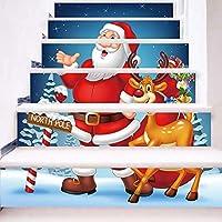Rawdah Pegatinas Navidad Ventana Pegatinas Navidad Pared Simulación de Navidad 3D pegatinas de escalera pegatinas de pared a prueba de agua DIY decoración para el hogar