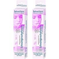 Pregnafix Schwangerschafts-Schnelltest, mit sicherem Ergebnis in nur einer Minute, 2er Pack (2 x 1 Stück) preisvergleich bei billige-tabletten.eu