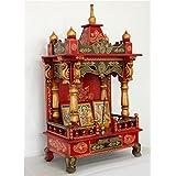 Temple Home temple Puja Mandir, LifeEstyle Handpainted wooden Swan Design Home temple