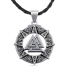MESE London Collar Símbolo De Odín Colgante De Plata Amuleto Vikingo - Elegante Caja De Regalo