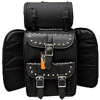 f6be83213c Motocicletta grande Sissy bar bar di viaggio borsa da viaggio bagaglio New  nero