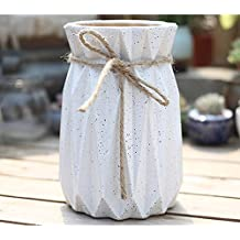 Better-Way Jarrón moderno de diseño antiguo de cerámica para orquídeas, contenedor de flores