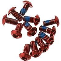 Boulon de disque Vis fixation disque de frein pour Rotor vélo VTT acier rouge M5 x 10mm 12 PCS
