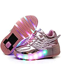 SKATE Chicos, niñas y Chicas, Zapatillas de Ruedas con Ruedas traseras, Zapatillas de skate Wing Skate para niños,…
