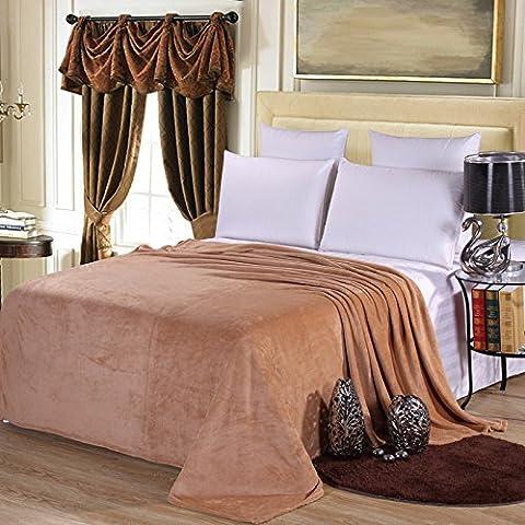 HHYWS Morbido e caldo buttare letto divano coperta di buttare la ribaditura di Faller privo di pelucchi e colore,1.2 * 2.0cm