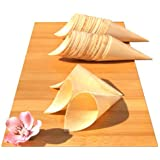 Bamboo Wood Cones MIDI x100 for party foods, snacks, nibbles, canapé 180X75mm - MIDI