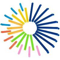 30 Stück 3 Größen Dichtungsclips Plastikbeutel Clips Klemmen für Lebensmittel und Snacks Lagerung, verschiedene Farben