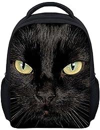 Kids 3D Backpack Cartoon Cute School Bag Student Animal Daypack Baby Rucksack Kids Bookbag Black Cat