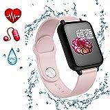 Gelrova Fitnesstracker activiteitentracker fitness armband touchscreen IP67 waterbestendigheid met Bluetooth stappenteller slaapmonitor teller oproepen sms-SNS-herinnering voor kinderen vrouwen mannen