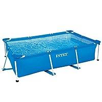 Intex Rectangular Metal Frame Pool - 28271, Multi Color