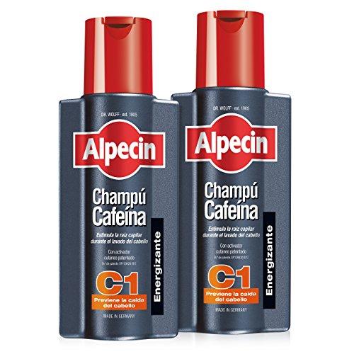 Alpecin Champú Cafeína C1, Champú anticaída – 2 x 250ml = 500ml