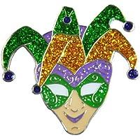 Navika–Mardi Gras Jester marcador para pelotas de golf con enganche para gorra