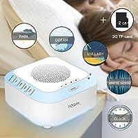 Weißes Rauschen Maschine, MODAR Geräuschmaschine Schall-Modi+2G TF Karte (selbst aufgezeichnet), Schlafhilfe für... preisvergleich bei billige-tabletten.eu