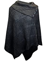 Der neuen Frauen Plus Size Big Cable Strick 3 Taste Cape Poncho Damen  Pullover (( 76e9025e03