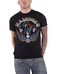 Ramones Shirt Vintage Wings Band Logo Vintage Nuevo Oficial de Los Hombres