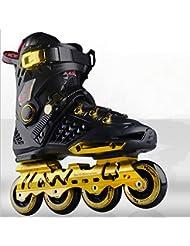 ttll-adult patinaje, patines, Fancy de hombre y universidades, patines, 35, color negro y dorado