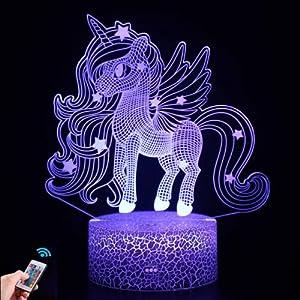 Luz de noche de unicornio