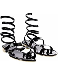 2b7a838be0c Joker   Witch Gladiator style patent Black sandal for women and Girls