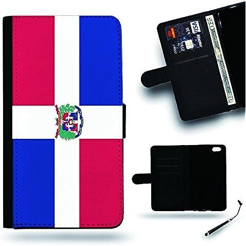 Per Cellulare Negozio//2016Coppa Coppa del Mondo Case Cover Protezione Completa Custodia a portafoglio in pelle Slot per Apple Iphone 6Iphone 6s iPhone6/iphone6s/Repubblica Dominicana Bandiera