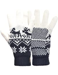 Fila Unisex Adults Winter Woolie Nordic Knitted Gloves - Navy