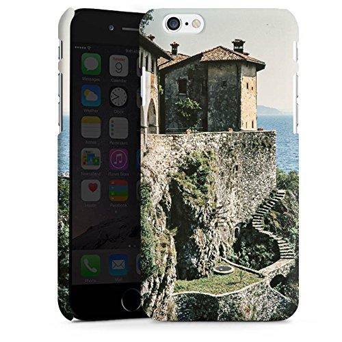Apple iPhone X Silikon Hülle Case Schutzhülle Küstenlandschaft Festung Meer Premium Case matt