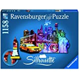 Ravensburger 16153,Skyline, New York 1158 Teile, Silhouette Puzzle