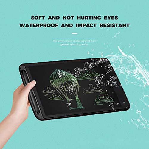 QHJ LCD Writing Tablet, 6.5 Zoll LCD-Schreibtafeln, Grafiktabletts Schreibplatte Digital Schreibtafel Papierlos Schreiben Tabletten für Kinder Schule Graffiti Malen Notizen (A-Schwarz)