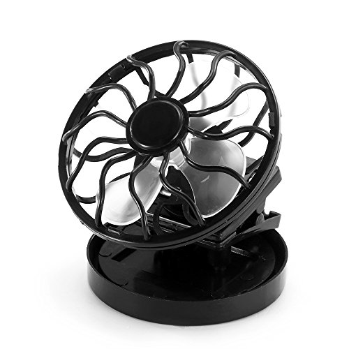 Ventilateur de Refroidissement, Refroidisseur d'air de Panneau de Ventilateur de climatiseur portatif à énergie Solaire Mini, Noir