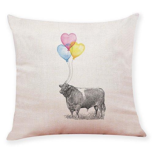 OYSOHE Kissenbezug Ballon Animal Throw Kissenbezug Versteckte Reißverschluss Verschluss Kissenbezüge,45x45cm - Ballon Brief X