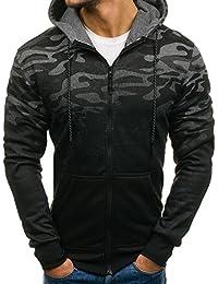 BOLF – Sweatshirt à capuche – jogger – sportif – motif camo – Homme 1A1