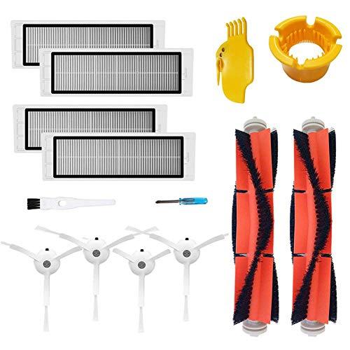 Zubehör-Kit für XIAOMI MI Roboter-Vakuum-Ersatzteile 2 Stück Haupt 2 Stück Bürsten-Seitenbürste 2 Stück HEPA-Filter