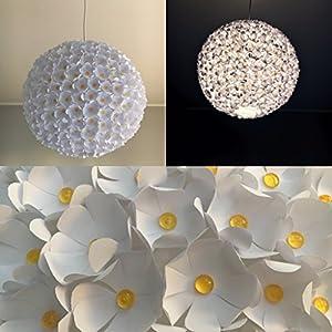 Daisyflower II (Gänseblümchen), Lampe Lampenschirm Hängelampe Papierlampe Reispapierlampe Designerlampe, Wohnzimmerlampe