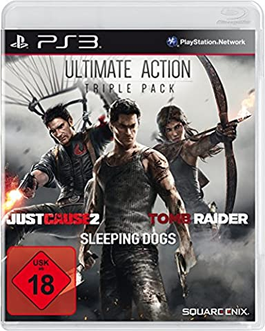 Ultimate Action Triple Pack - Tomb Raider, Just Cause 2, Sleeping Dogs [import allemand]